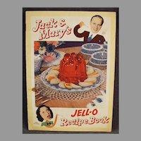 Vintage 1937 Jack Benny & Mary Livingstone Comic Strip Format Jell-O Recipe Booklet