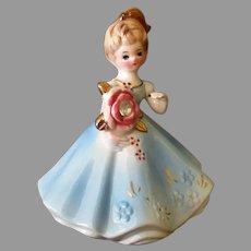 Vintage Josef Original April Birthstone Birthday Doll with Faux Diamond