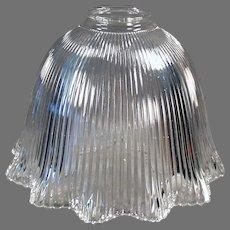 Large, Single Vintage Light Shade for Old Light Fixture