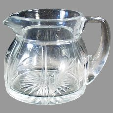 Vintage #411 Heisey Glassware Creamer in Rib and Panel Pattern with Cut Design