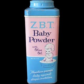 Vintage Talc Tin - Z.B.T. Baby Powder Tin with Cute Graphics