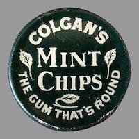 Vintage Advertising Tin - 1910 Colgan's Mint Chips Gum Tin