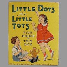 Child's 1939 Vintage Toy Box - Platt and Munk Little Dots for Little Tots Box