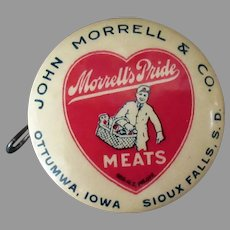 Vintage Celluloid Tape Measure – Morrell Meats Advertising 1920's