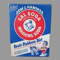 Vintage Arm & Hammer Sal Washing Soda Advertising - Sample Box