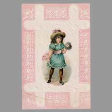 Cute Lion Coffee Advertising Trade Card from the Woolson Spice Company