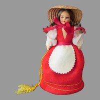 Vintage Felt Doll Purse – Little Girl's Old Wrist Purse
