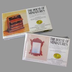 Vintage Chippendale Furniture House of Miniatures #40042 & #42403 Unassembled Kits