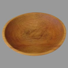 Small Vintage Wood Bowl with Nice Color and Grain