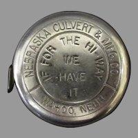 Vintage Lufkin Tool Co. Metal Tape Measure – Nebraska Culvert Company Advertising