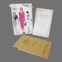 Stylish Vintage Vogue Pattern #9340 Uncut Dress, Top & Skirt  Size 8-10-12