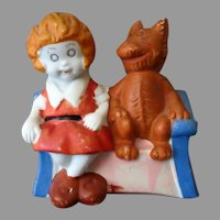 Vintage Orphan Annie Toothbrush Holder – Colorful Painted Bisque -  Annie and Sandy