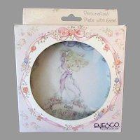 Little Enesco Precious Moments - Vintage Ann Namesake Plate with Original Box