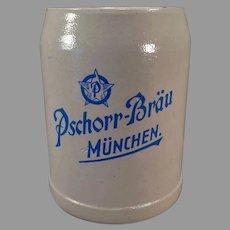 Vintage German Stoneware Beer Stein – .5L Pschorr-Brau Muchen Ale Mug