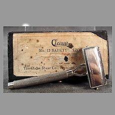 Vintage Clauss Shear Co. Never Fail Safety Razor with Original Box