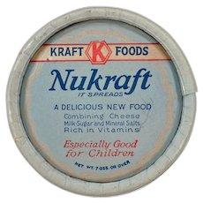 1930's Vintage Kraft-Phenix Nukraft Cheese Box Advertising Memorabilia