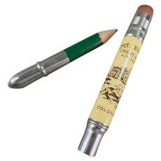 Vintage Advertising Souvenir Bullet Pencil for Crest House Mt. Evans Colorado