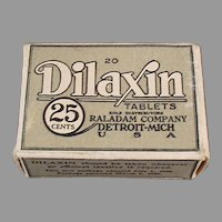 Vintage Dilaxin Laxative Tablets Medicine Medical Advertising Box