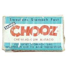 Small Vintage Sample Box - Chooz Antacid Medicine Gum Box