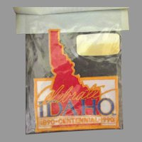 Vintage Idaho 1990 Centennial Iron-On Fabric Patch with Original Package