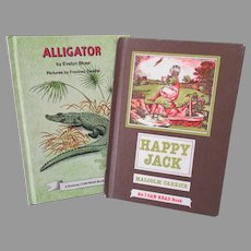 Two Children's 1970's Vintage I Can Read Books – Happy Jack & Alligator