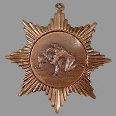 Vintage 4th Place Starburst Wrestling Sports Medal - Caldwell Idaho