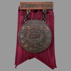 Vintage 1947 Boy's Club 25 Year Meritorious Service Award Medal