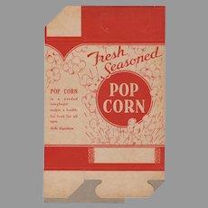 """Vintage Popcorn Box - Unused """"Fresh Seasoned""""  1930's - 1940's"""