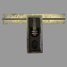 "Vintage Starrett Tool - No.13 Double Square, 4"" Graduated, Hardened Blade"