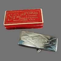 Vintage Safety Razor Blade Sharpener with Original Box - Stanford Five Second Sharpener