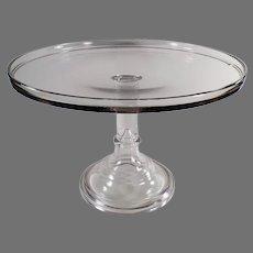 "Large 14"" Diameter Vintage Pedestal Cake Stand Plate"