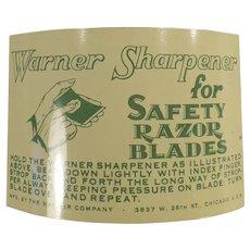 Vintage Shaving Memorabilia - Warner 1-2-3 Safety Razor Blade Sharpener with Packaging