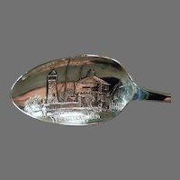Vintage Sterling Silver Chicago Souvenir Spoon - Fort Dearborn