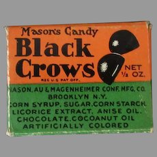 Vintage Sample Candy Box- Black Crow Licorice Candy Drops