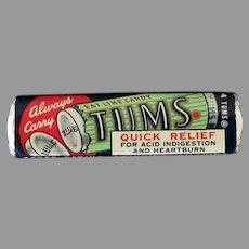 Vintage Tums Antacid Mints Little Four Pack - Fun Medicine Advertising Item