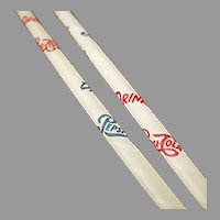 Six Vintage Pepsi Cola Advertising Paper Straws - 6 Old Straws