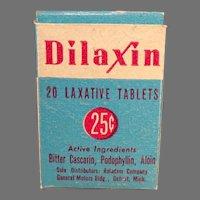 Vintage Medicine Box - Dilaxin Laxative Medical Advertising