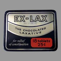 Vintage Ex-Lax Laxative Medicine Tin – Medical Advertising