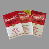 Three Vintage Campbell's Creative Cooking - 3 Advertising Recipe Booklets – 1980's