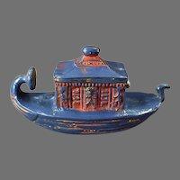 Vintage Figural Celluloid Tape Measure - Gondola with Egyptian Detail