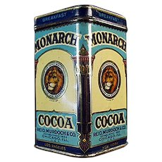 Vintage Sample Cocoa Tin - Little Monarch Breakfast Cocoa with Nice Graphics