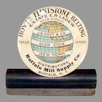 Vintage Celluloid Advertising Clip - J.B. Hoyt's Flintstone Belting Company