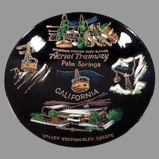 Vintage Palm Springs Souvenir - Aerial Tramway Laquerware Snack Bowl
