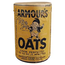 Vintage Sample Oat Box - Little Armour's Oat Cereal Box with Elf Graphics