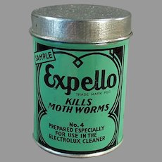 Vintage Sample Tin -  Expello Electrolux Vacuum Cleaner with Nice Graphics