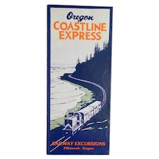Vintage 1990 Portland Tillamook Oregon Coastline Express Rand McNally Map
