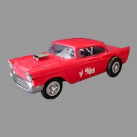 Vintage Wen-Mac 1957 Delco Shock Special Modified Chevrolet Dragster – Plastic Wind-up Car