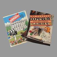 Two 1980's G.B. Trudeau Doonesbury Comic Strip Paperback Books