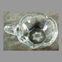 Vintage Handled Nappy Candy & Nut Dish - Krystol Glass