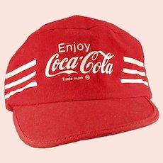 Vintage Classic Coke Baseball Cap Hat with Enjoy Coca-Cola Advertising